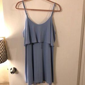 Express Periwinkle Layered Dress